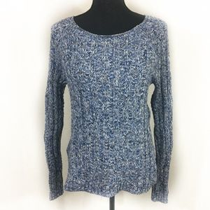 GAP Blue Knit Sweater Pullover Chunky XS Wide Crew